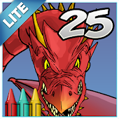 Coloring Book 25 Lite: Dragon Attack