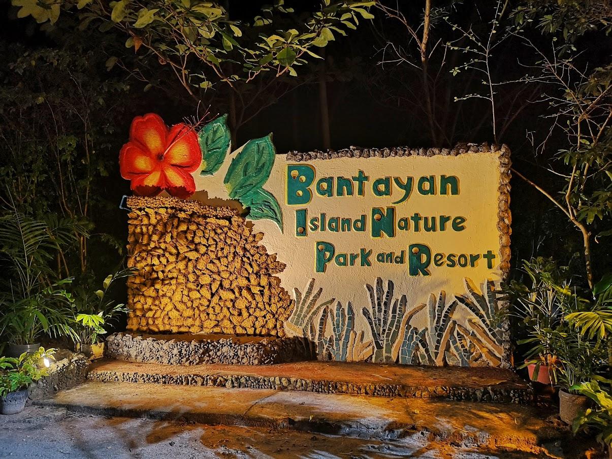 Bantayan Island Nature Park and Resort entrance sign