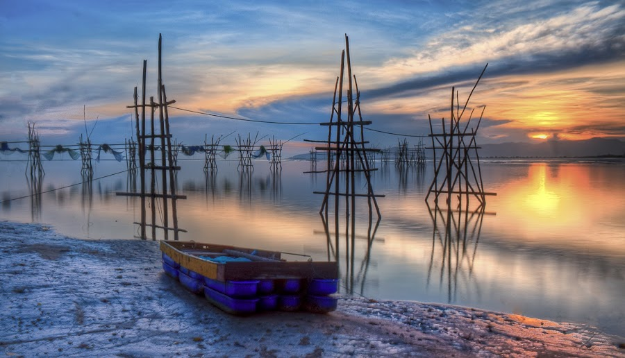Sunrise at my hometown by Ahmad Zaidi - Landscapes Waterscapes