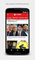 Screenshot of CBC News