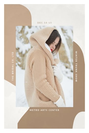 Winter Trunk Show - Postcard template