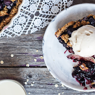 Gluten-free + Vegan Blueberry Pie