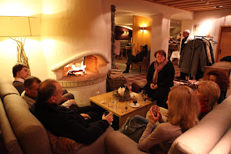 Photo: ... relaxing in front of the fireplace...