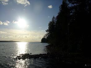 Photo: Evening sun from the island