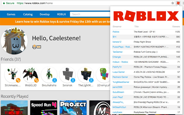 Roblox Stream Browser