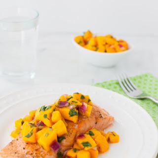 Roasted Salmon with Mango Salsa