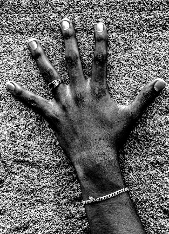 a human hand by Badr Pedro - People Body Parts ( hand, freedom, peace, human )