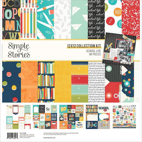 Simple Stories Collection Kit 12X12 - School Life