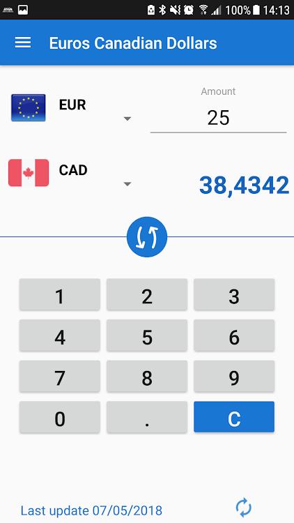 Canadian Dollar Eur To Cad Converter