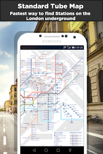 London Tube & Rail Map - náhled