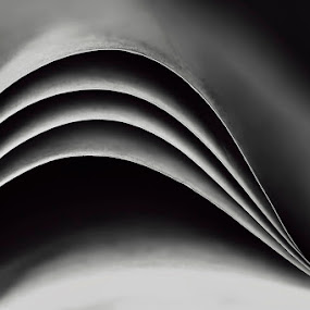 Paper by Soyam Chhatrapati - Abstract Macro ( macro, micro, black and white, macro photography, paper )