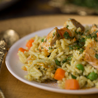 Quick Curried Chicken with Rice.
