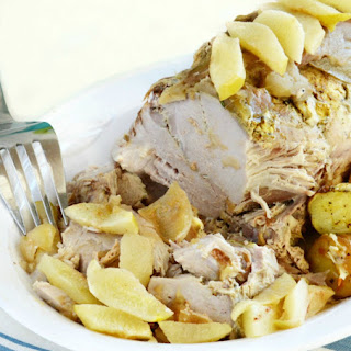 Crock-Pot Pork Roast with Apples and Onions.
