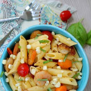 Tomato Corn Pasta Salad.