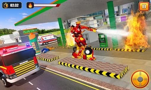 Firefighter Robot Transform Truck: Rescue Hero 5
