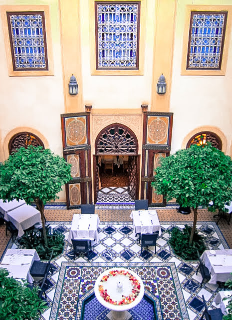 Typical courtyard inside a riad