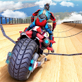 US Police Robot Bike Stunts APK