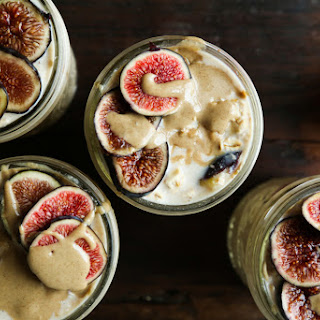Maple Fig + Tahini Overnight Oats