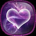 Purple Hearts Live Wallpaper icon