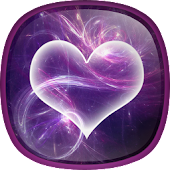 Purple Hearts Live Wallpaper