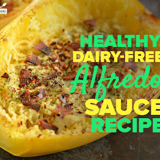 Healthy, Dairy-free Alfredo Sauce Recipe.