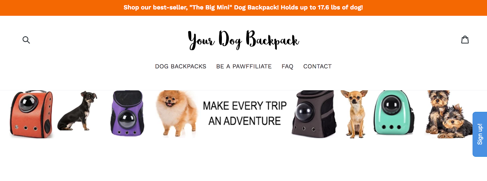Your Dog Backpack - Brands looking for pet influencers