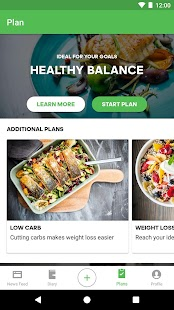 Runtastic Balance Calorie Calculator, Food Tracker Screenshot