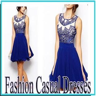 Módní neformální šaty - náhled
