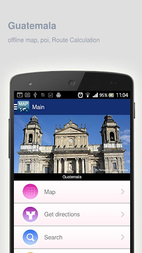 Guatemala Map offline