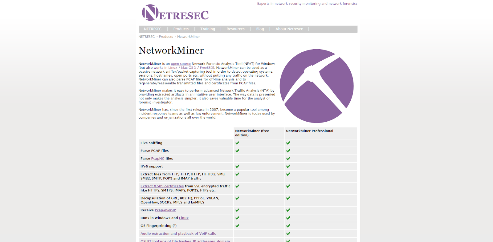 NetworkMiner Network Monitoring Tool