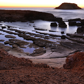 Yeronissos in Cyprus by Anastasis Agathokleous - Landscapes Beaches ( sunrise, rocks, waterscape, island, beach, sunset, cyprus, long exposure, landscape )