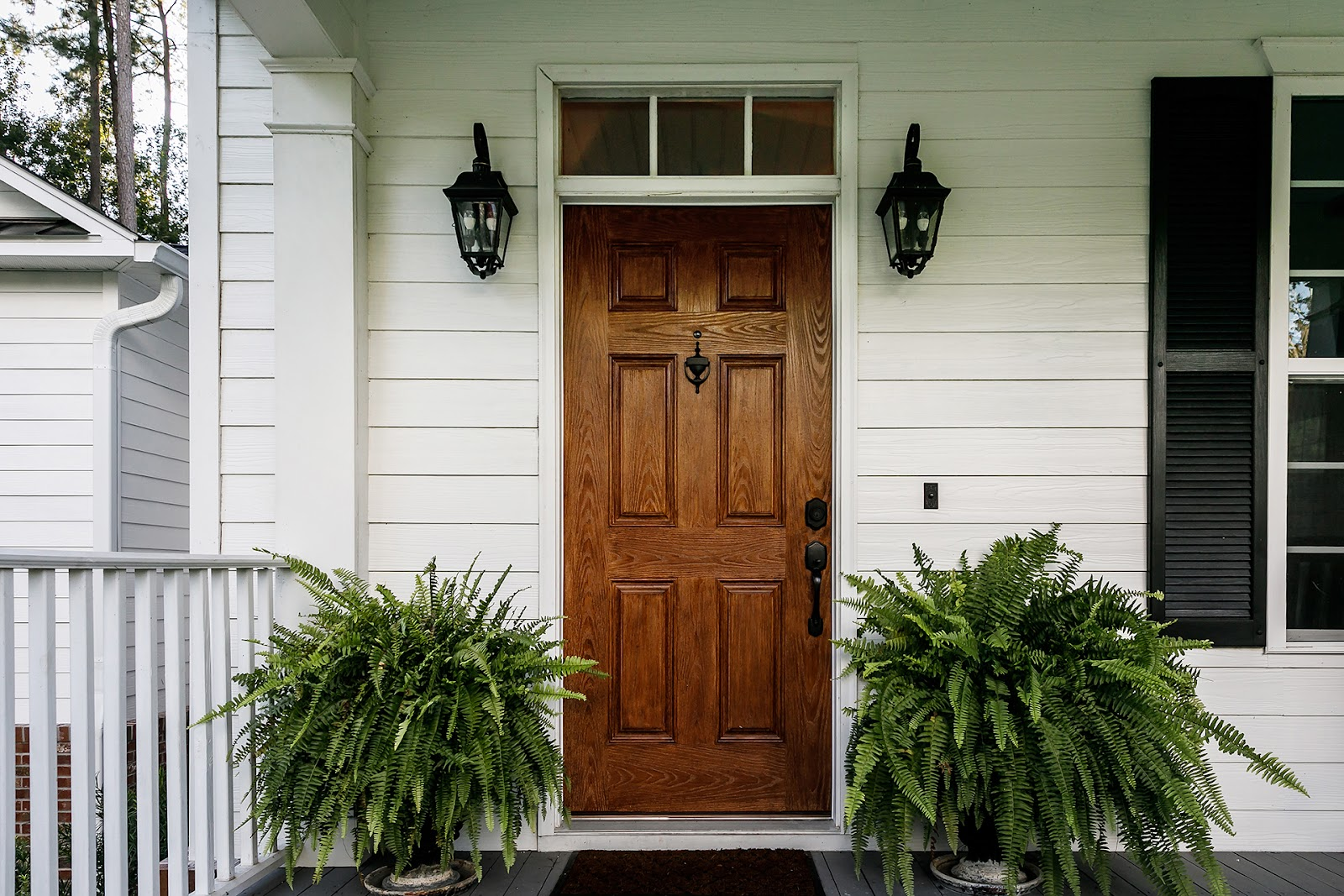 Home Exterior with Plants