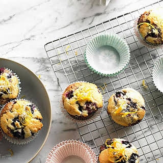 Citrus-Topped Double Blueberry Muffins.
