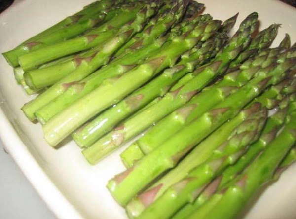 I microwave my asparagus with a little sea salt and a few tablespoons of...