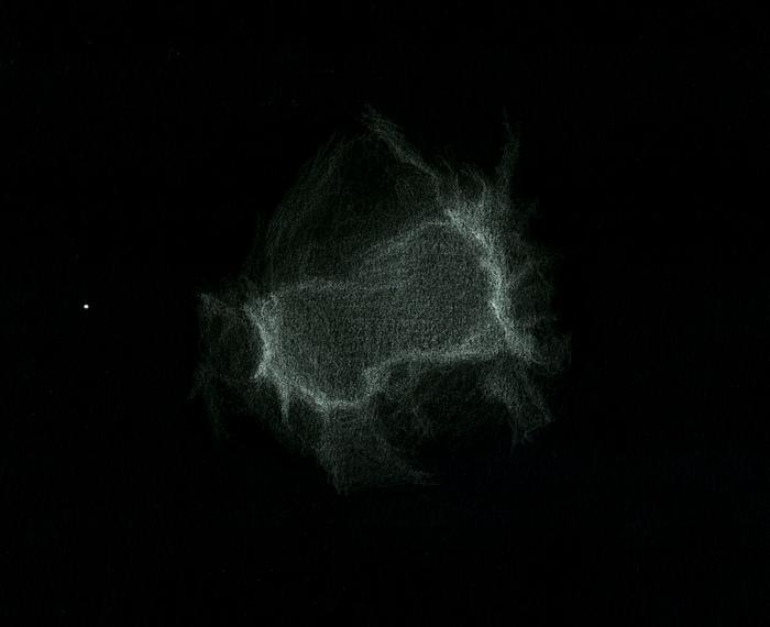 Photo: NGC 6445, nébuleuse planétaire dans le Sagittaire. Sa structure est très inhabituelle. Vue le 14 juillet 2013 dans le T1m de Stellarzac à 350X et filtre OIII.