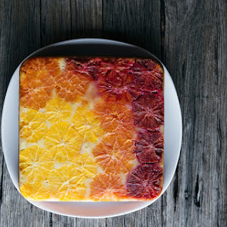 Upside Down Orange & Vanilla Ombre Cake.