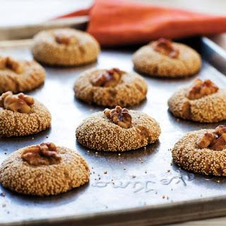 Amaranth-Walnut Cookies with Brandy