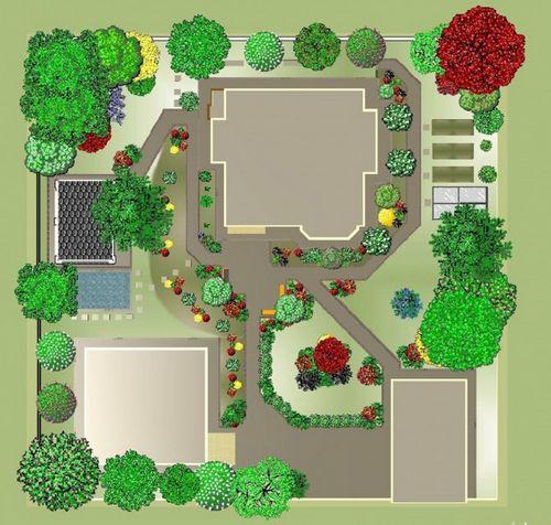 схема расположения построек на земельном участке