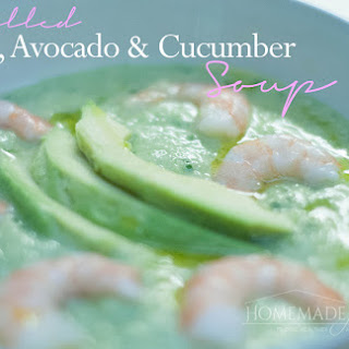 Chilled Shrimp, Avocado and Cucumber Soup