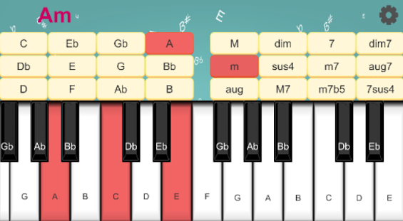 Piano Chord Quiz 1 (piano chord learning) - náhled