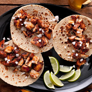 Adobo-Marinated Chicken Tacos