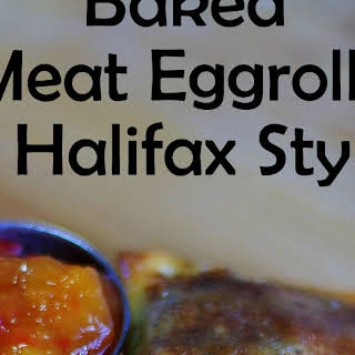 Baked Halifax Meat Egg Rolls.