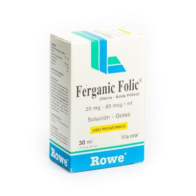 Hierro + Acido Folico Ferganic Folic Gotas (20Mg+80Mcg)/Ml  X30ml Rowe Gotas