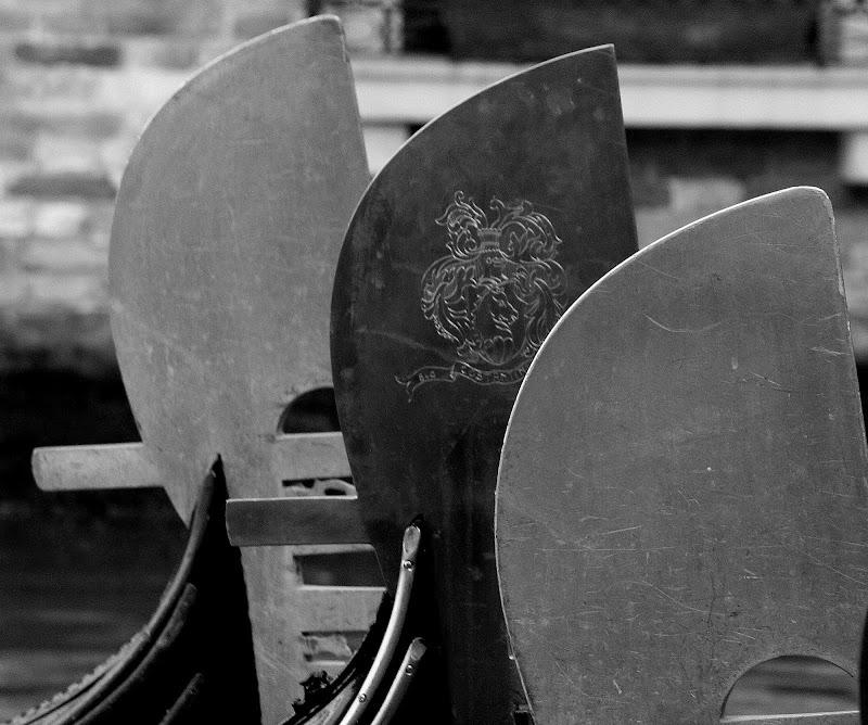 Tre gondole a Venezia di Andrea F