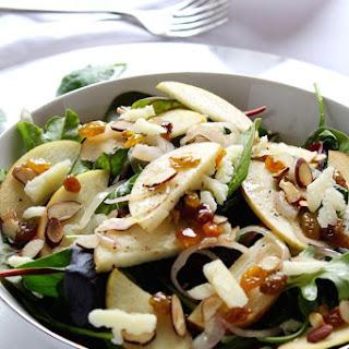 Warm Apple Salad with Apple Cider Vinaigrette