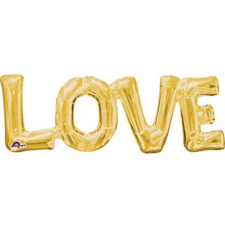 Folieballong - LOVE guld