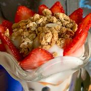 Yogurt Parfait and Coffee Cake