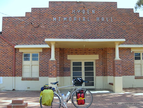 Photo: Hyden Memorial Hall - Esperance to Perth by Bicycle