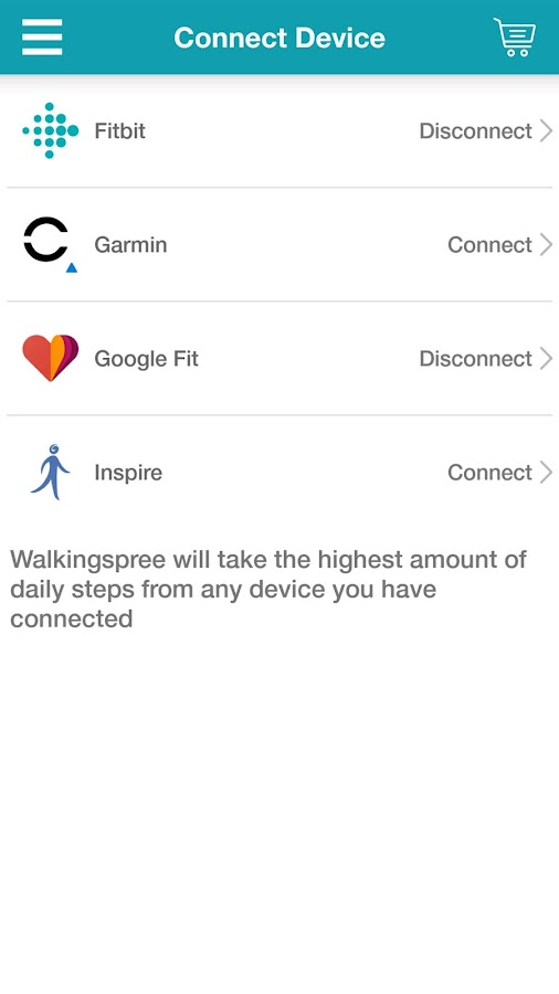 iWalkingspree (INSPIRE)- screenshot
