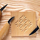 Simple Wood Carving Art icon
